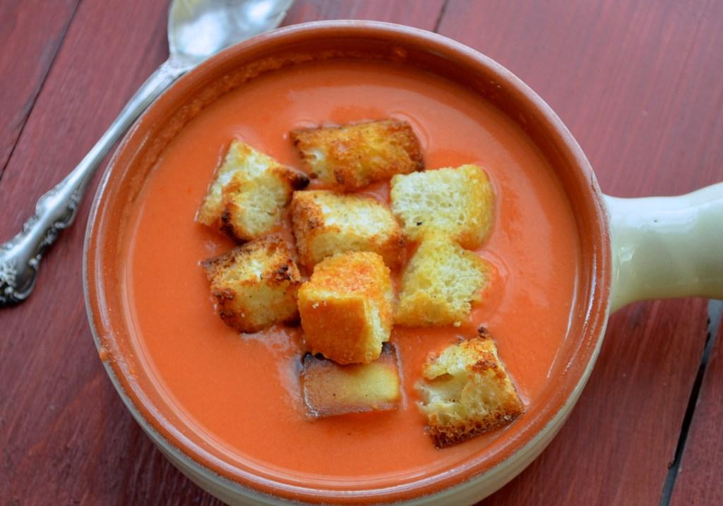 Authentic Spanish Gazpacho, fresh from the garden