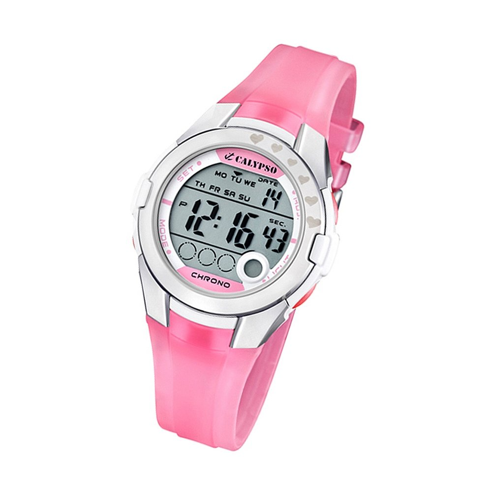 Chronograph Damen Uhr Calypso Damenuhr Fashion Chronograph Quarzuhr Pu Rosé Uk55712