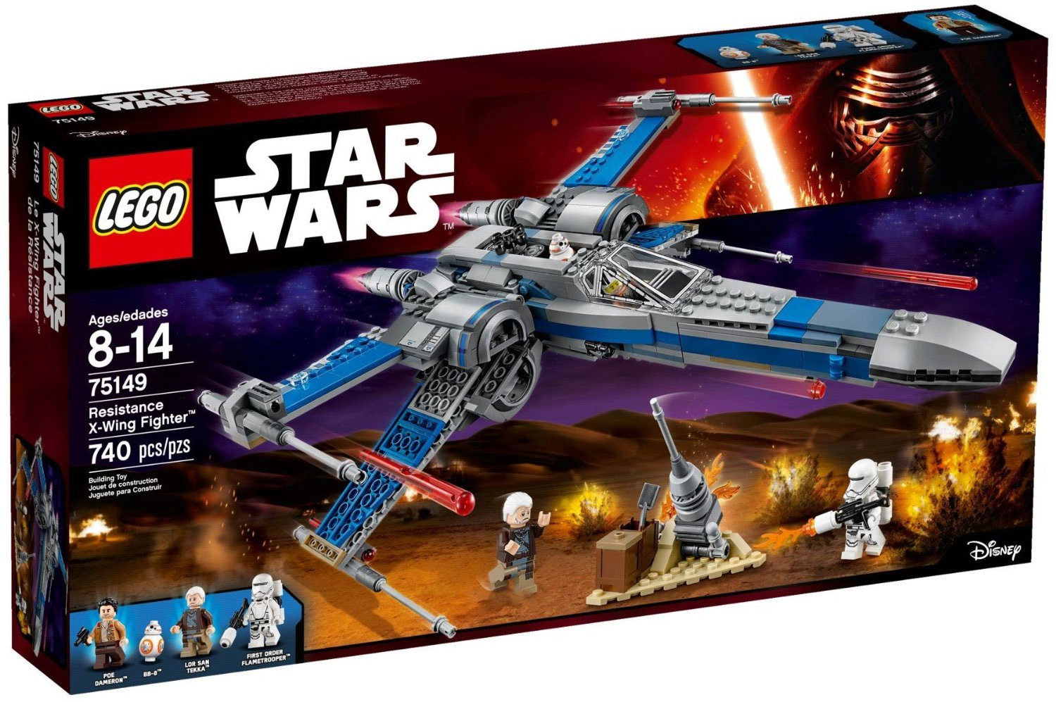 Star Wars Küchenhelfer Lego Star Wars Resistance X Wing Fighter 75149