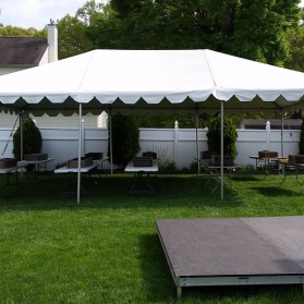20x30 Frame Tent with Staging