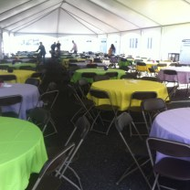 Keder Frame Tent with Tables and Chairs