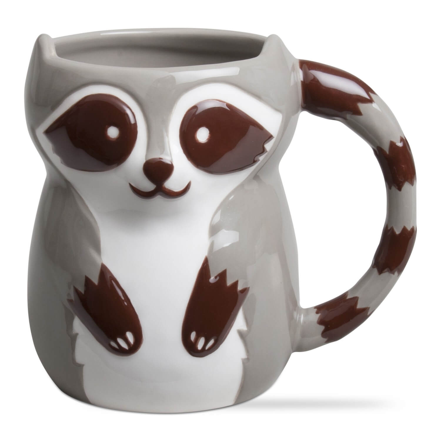 Comely Remy Raccoon Ceramic Mug Forest Friends Ceramic Mugs Teton Timberline Trading Owl Shaped Coffee Mugs furniture Owl Shaped Coffee Mug