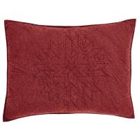 Standard Pillow Sham Pattern. Cheyenne American Red