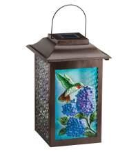 Solar Garden Hummingbird Hanging Lantern - Teton ...