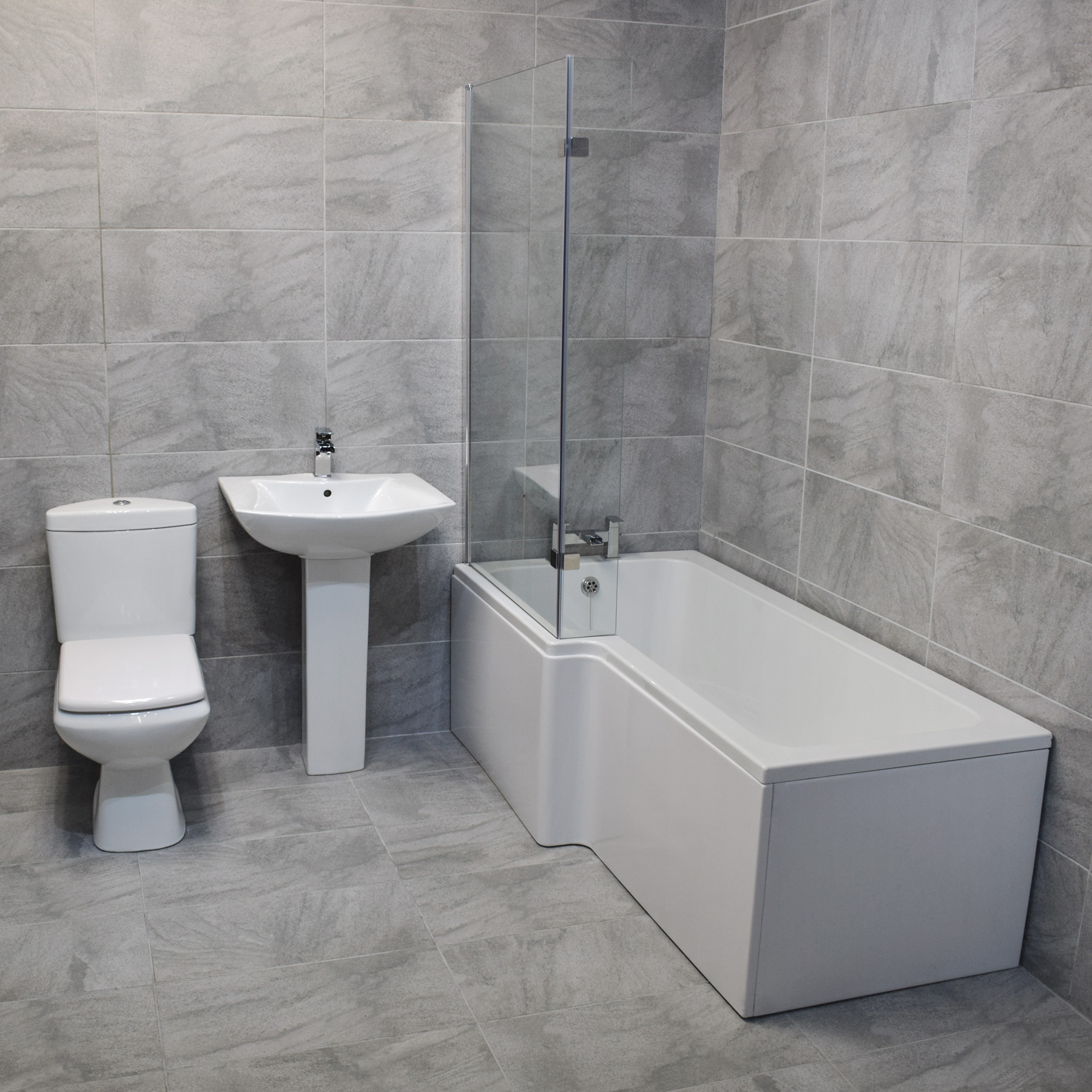 Bathroom Suites Arno L Shape Shower Bath Suite Modern Bathroom Suite