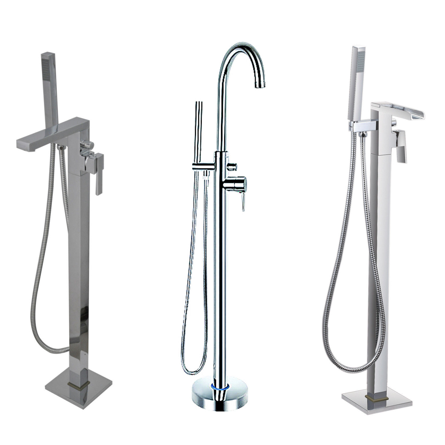 Freestanding Bath Taps Floor Standing Bath Shower Mixer Tap For Use With