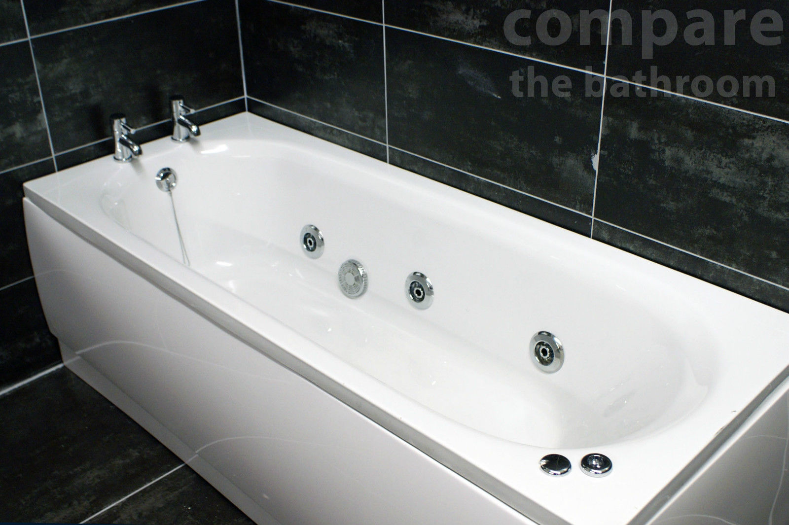 Jacuzzi Whirlpool Details About Whirlpool Bath 1700mm Luxury Spa Massage Jacuzzi Style 6 Chrome Hyflow Jets
