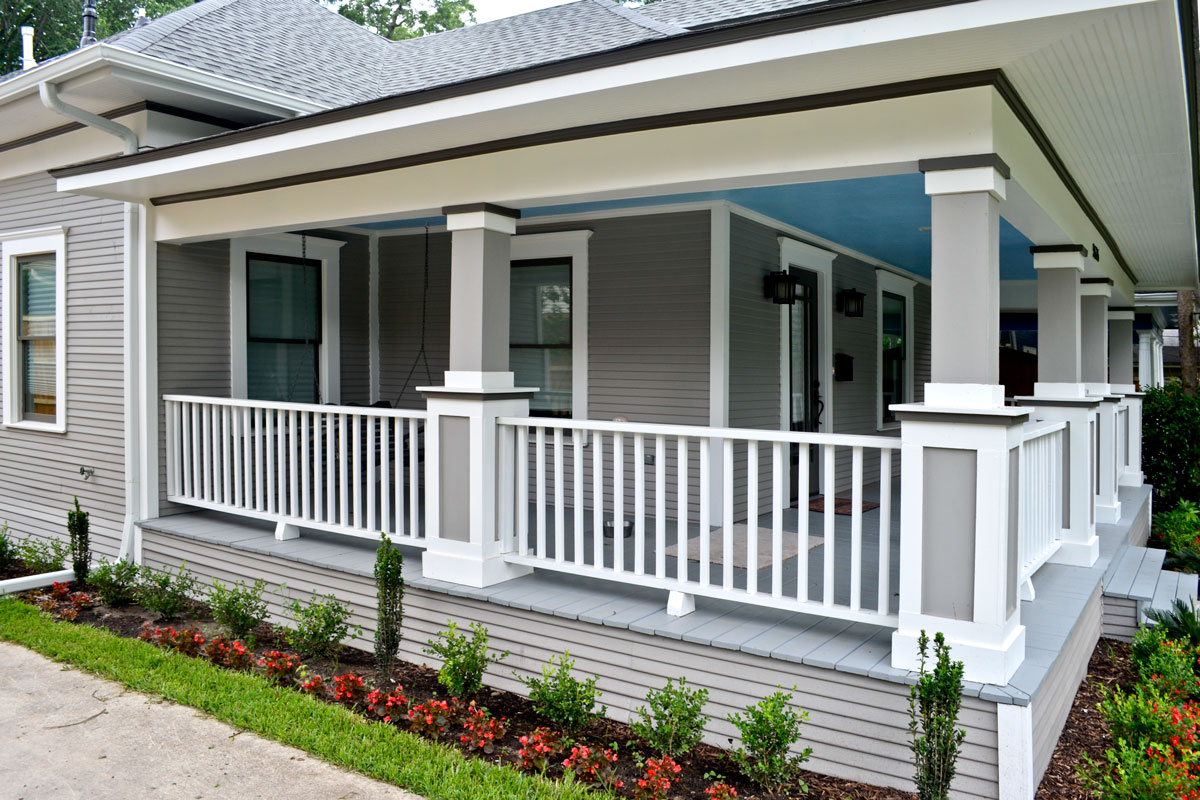 Farmhouse Front Porch Railing Ideas Historic Restoration After And Before Texas Best House