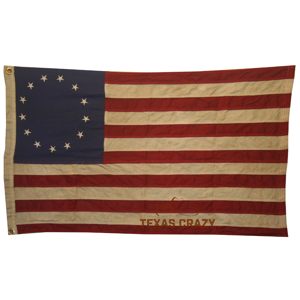 Vintage 8 Vintage Extra Large 5 X 8 Foot Antiqued Betsy Ross Flag