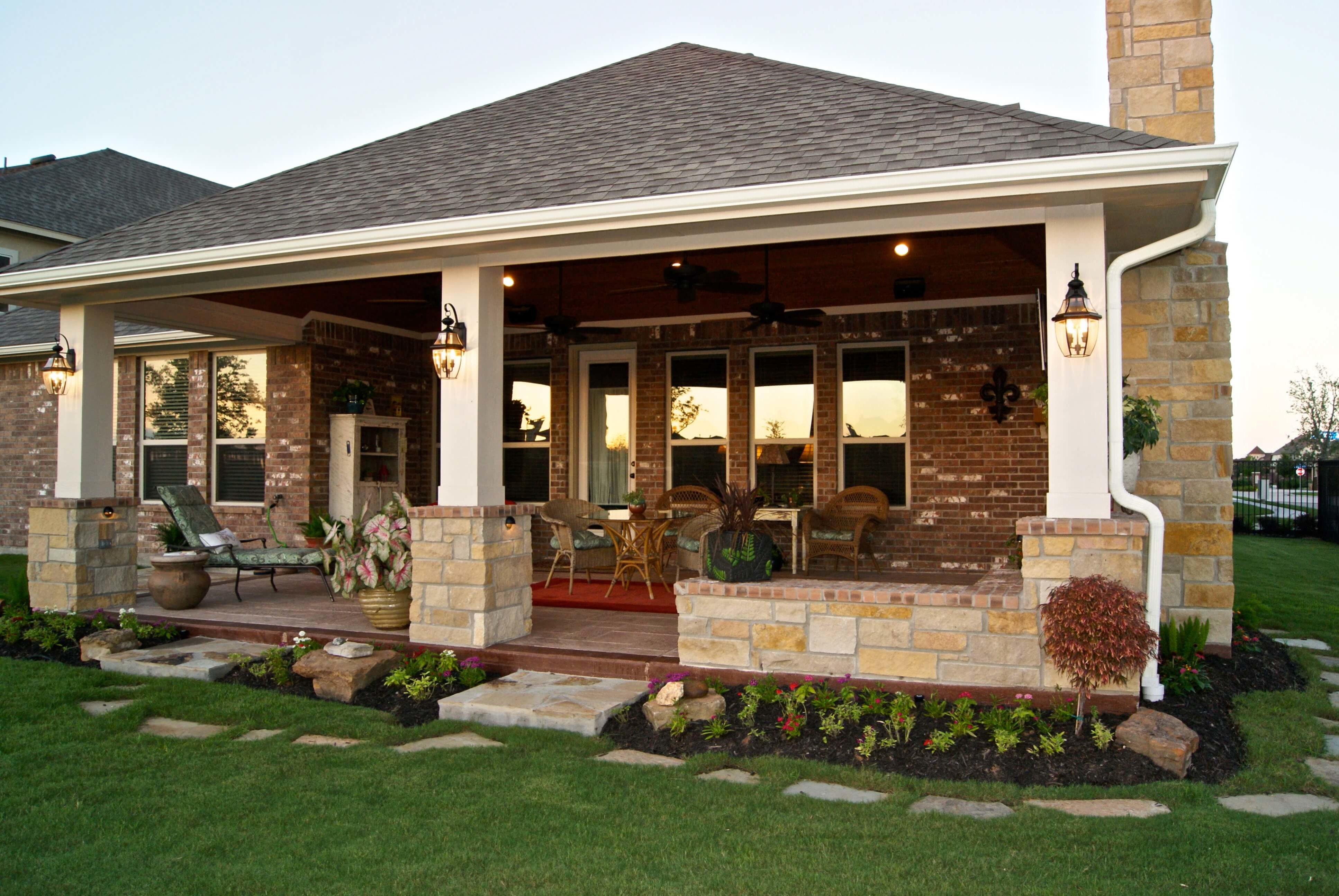 Make Your Own Outdoor Fireplace Patio Cover With Fireplace In Telfair Texas Custom Patios