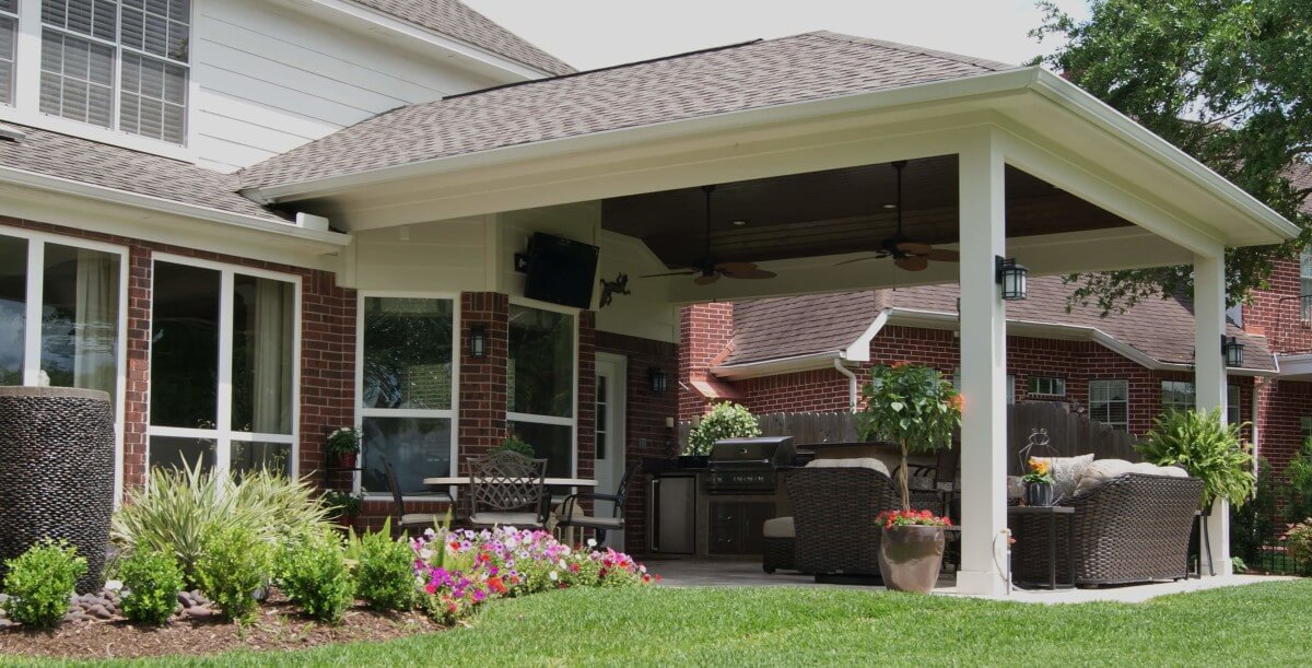Patio Cover Outdoor Kitchen In First Colony Texas