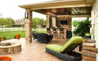 Patio Cover & Outdoor Kitchen in Pearland Estates - Texas ...