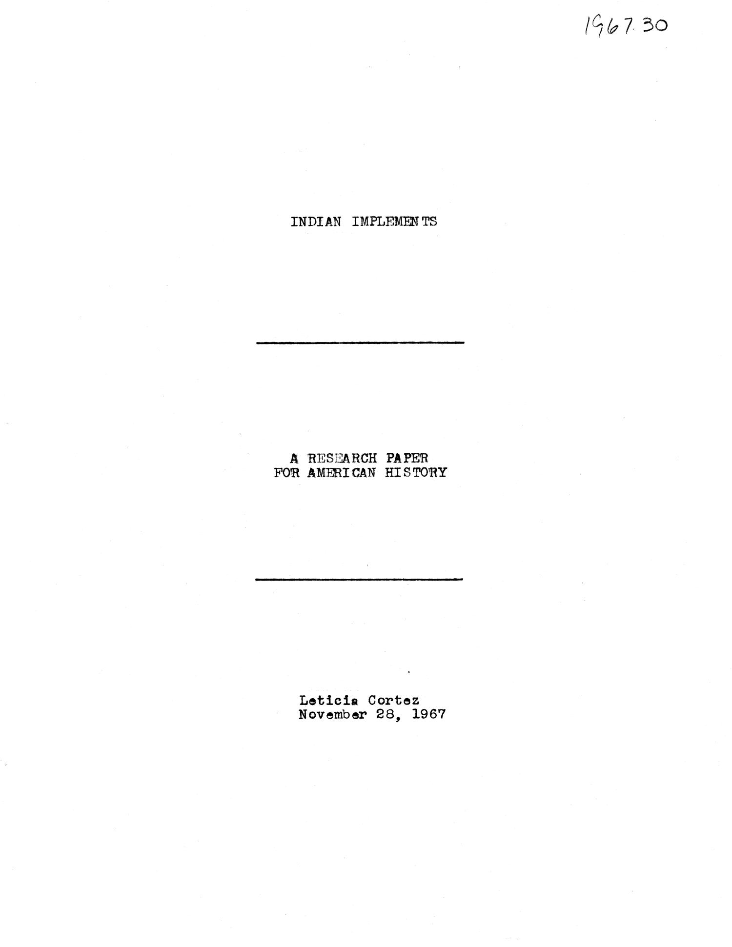 cover page format for research paper