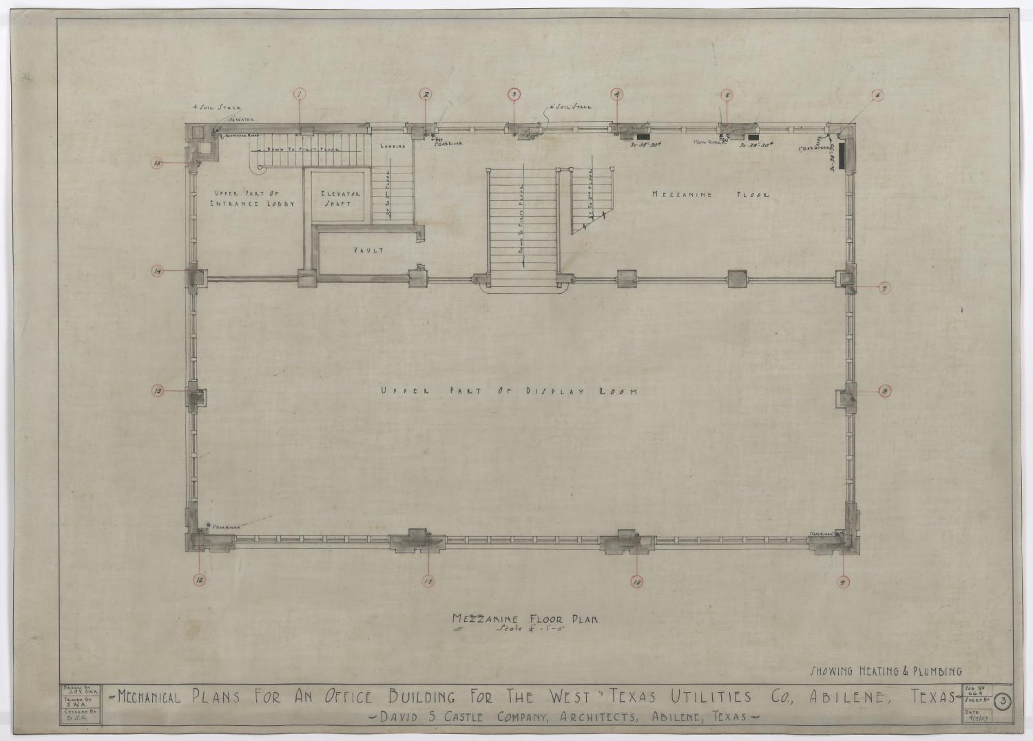 Office Plans West Texas Utilities Office Mechanical Plans Abilene Texas