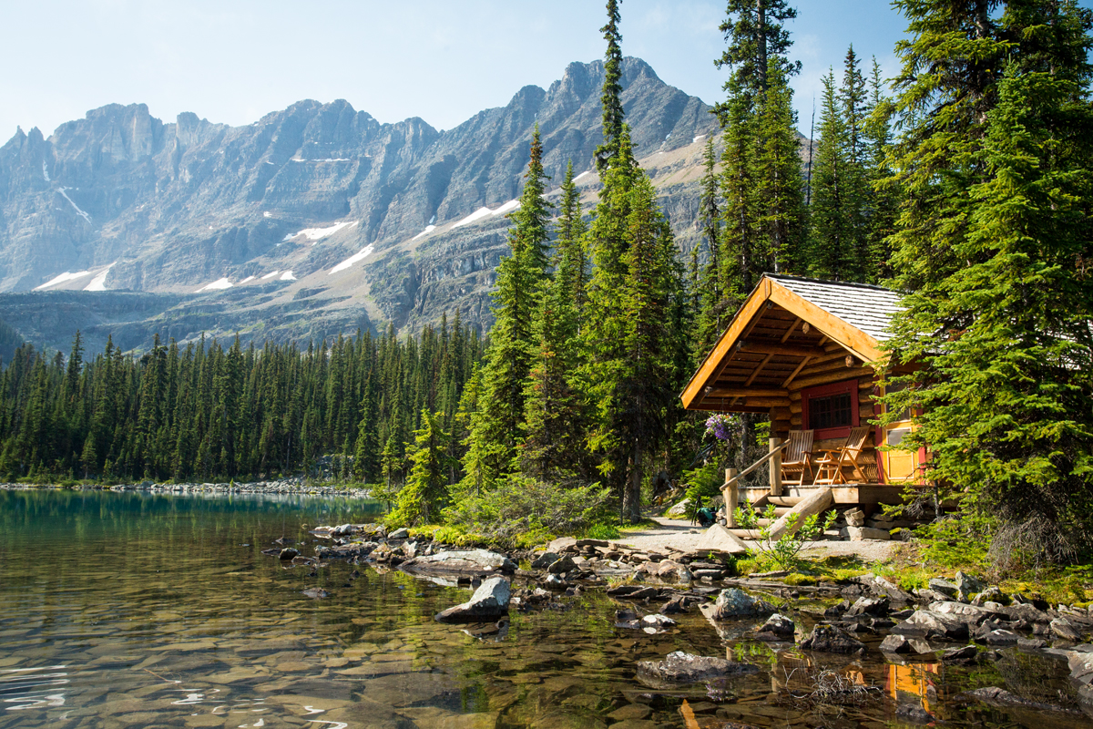 Fall Cabin The Woods Wallpaper Lake O Hara Lodge Cabins British Columbia Canada
