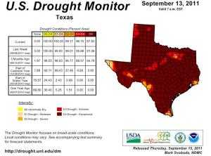 US Drought Monitor - Sept 13, 2011