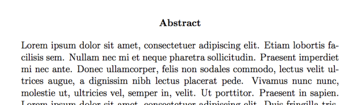 latex thesis abstract