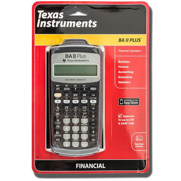 TI BA-II+ Financial Calculator University Book Store-Text