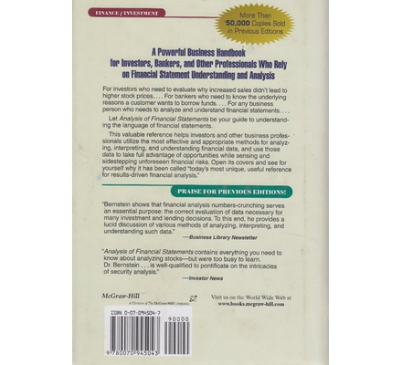 Analysis of Financial Statements 5th Edition Text Book Centre