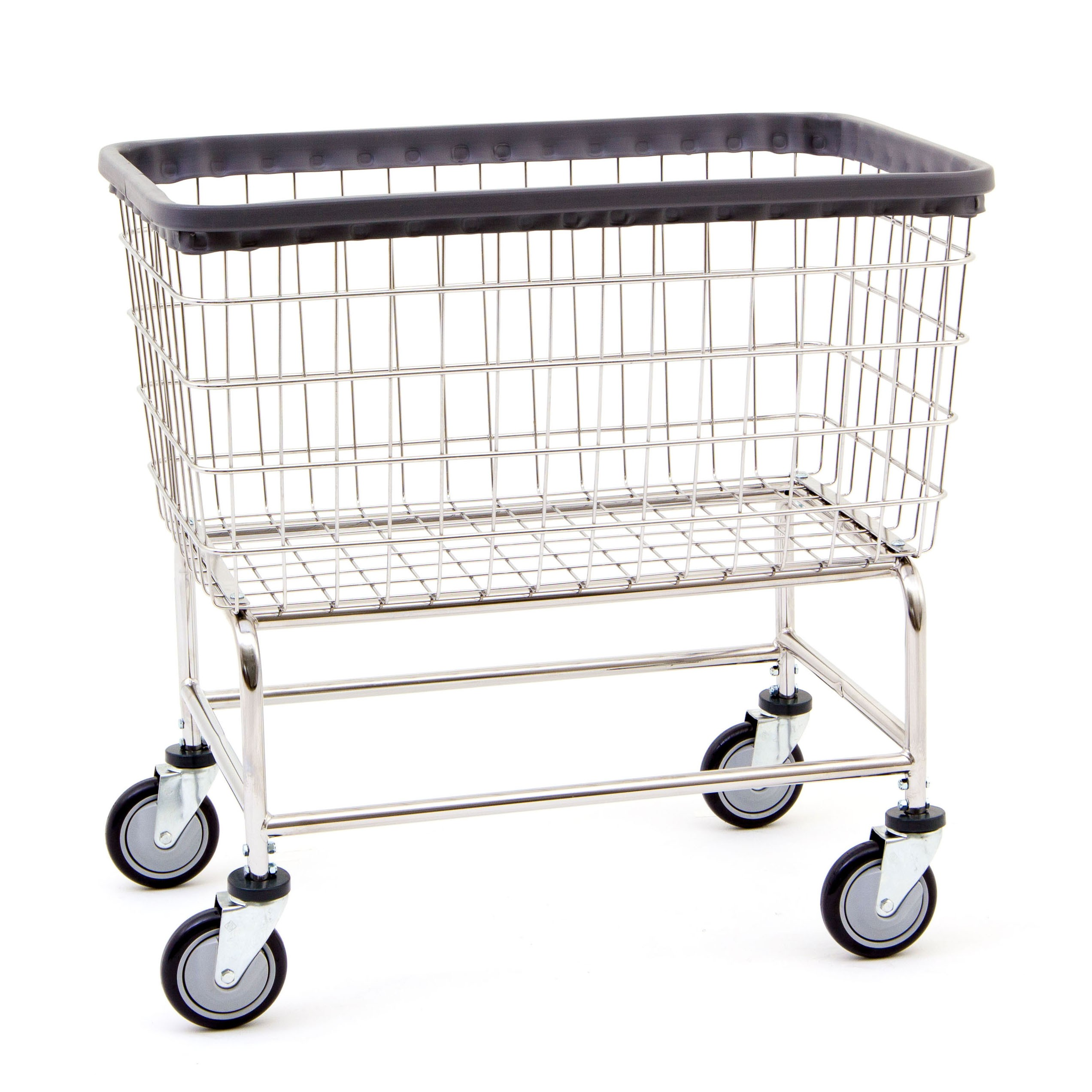 Wire Laundry Hamper On Wheels Bc Textile Innovations Basket Cart Laundry Basket On