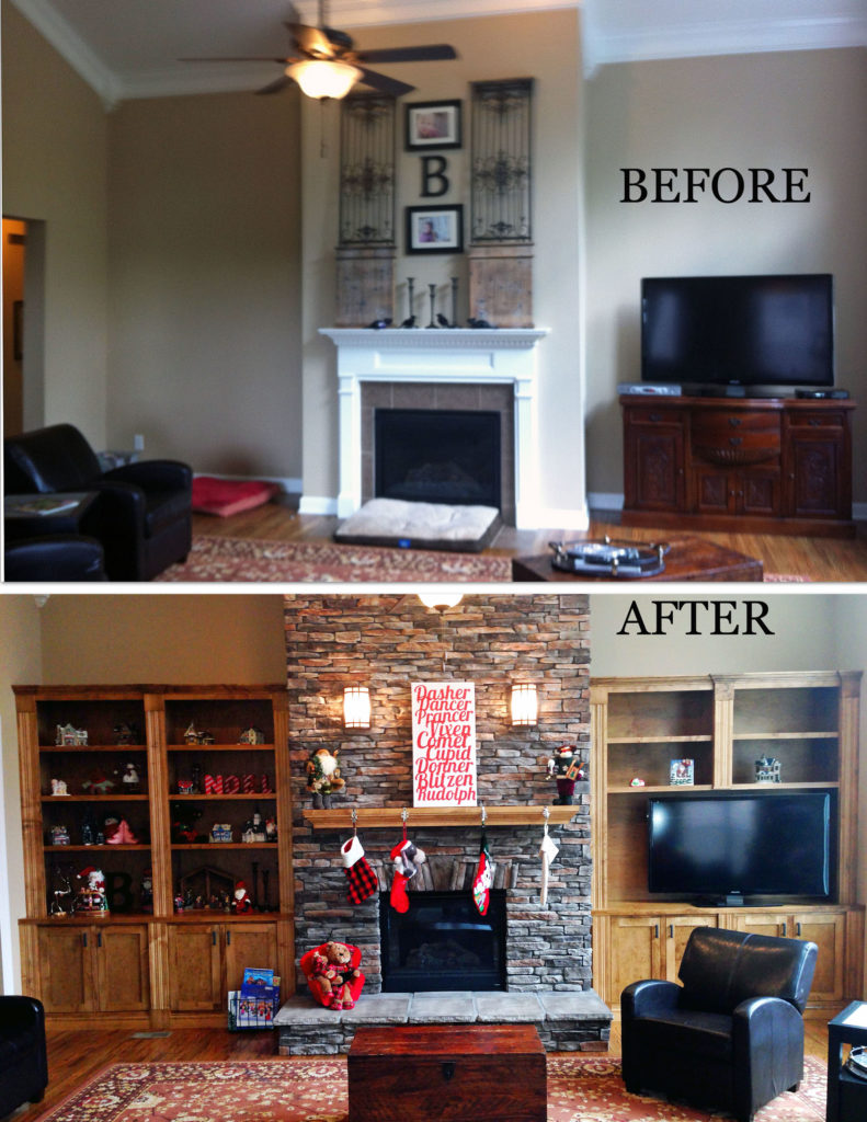 Cheminée Relookée Avant Après Home Makeover Before And After The Reveal Textures Nashville