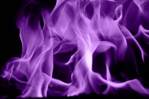 violet flame fire texture purple blaze fiery power element stock