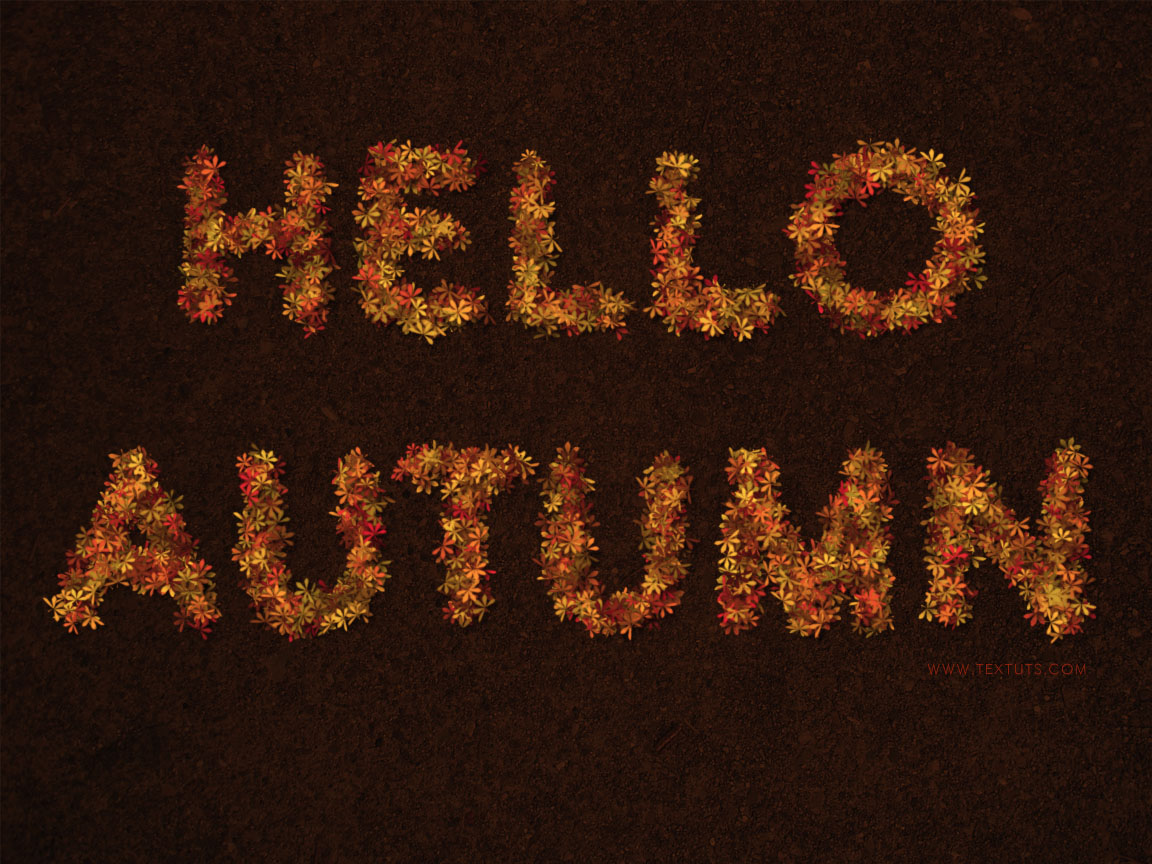 Fall Desktop Wallpaper Load Colorful Autumn Inspired Text Effect Textuts