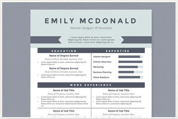Modern Resume Templates docx to Make Recruiters Awe! - what is the best template for a resume