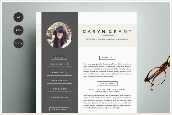 microsoft word theme cv