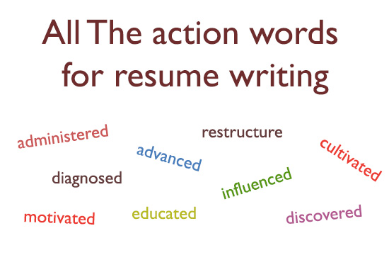 Action Verbs For Resume Or Resume Action Words List - resume action words