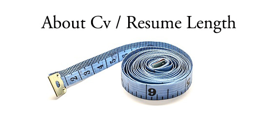 Resume length Guideline 2015 - Texty Cafe
