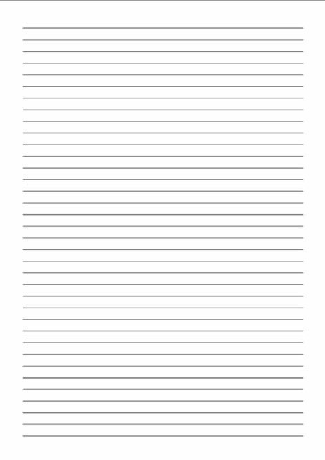 Free printable lined paper to print for kids and adults - Texty Cafe