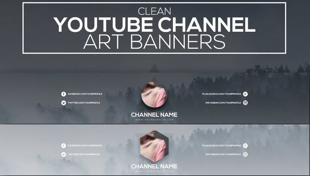40+ YouTube banner template psd For Channel Art - Texty Cafe