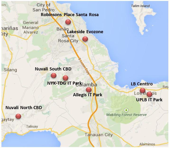 Metro Laguna Map
