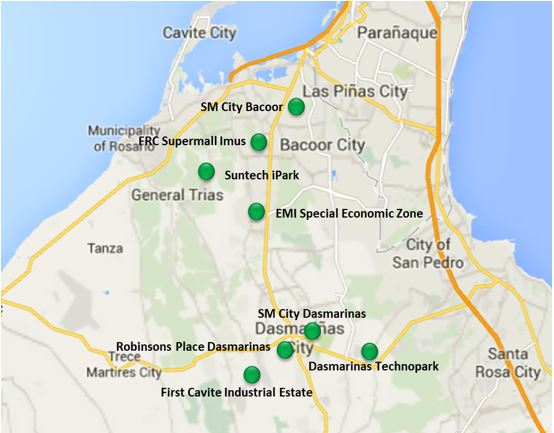 PEZA Sites in Metro Cavite