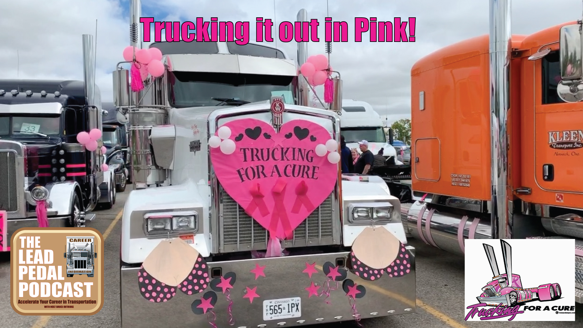 Career Trucking Pinking It Out In Woodstock Trucking For A Cure