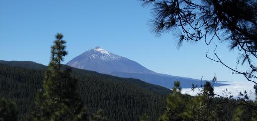 El Teide nevado en Tenerife