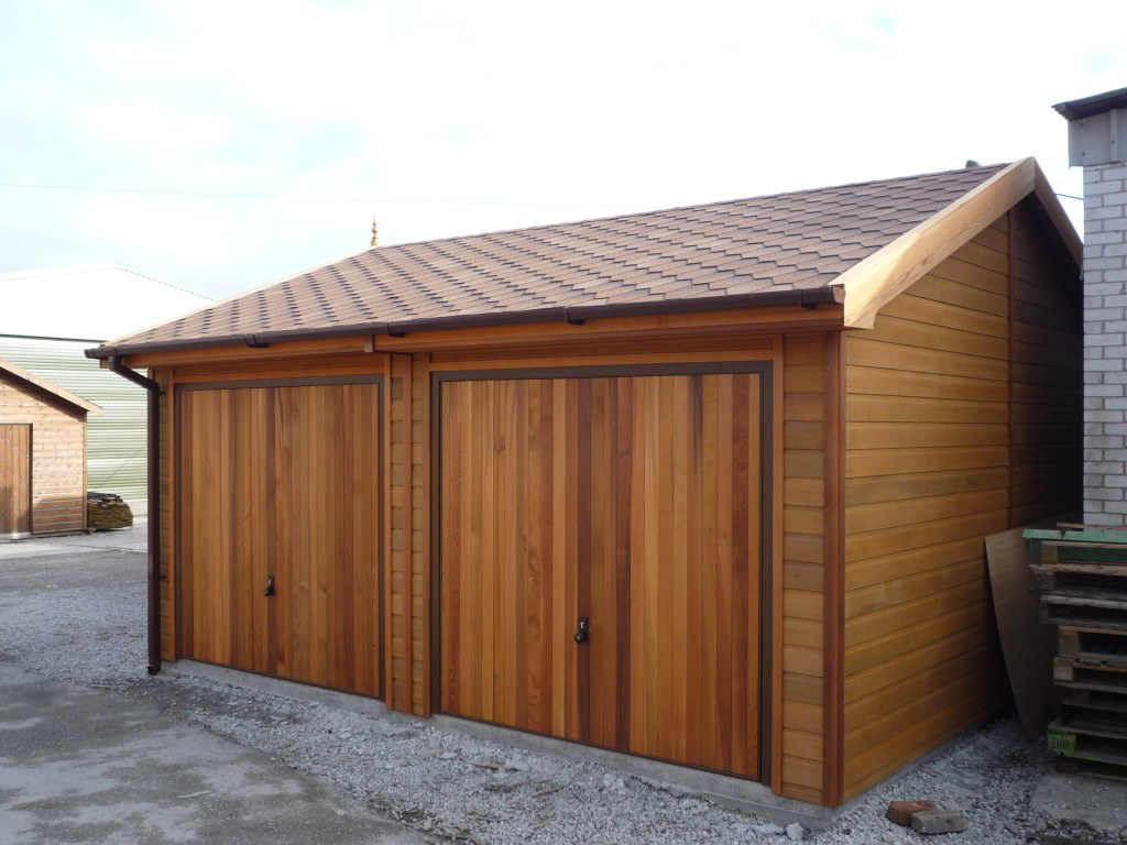 Osb 9mm Wooden Garages Uk, Timber Garages For Sale - Tunstall