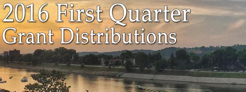 2016 First Quarter Grant Distribution List