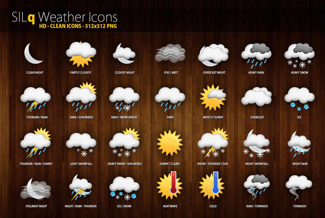 Best Wallpaper Website For Iphone Silq Weather Icons By D3stroy On Deviantart