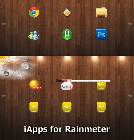 iapps 1 2 beta working rmskin by bazsi44 d47a38x Apple Inspired Rainmeter Skins & Themes