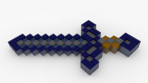 Minecraft Diamond Papercraft Big Sword Pictures 6 deviantART More Like Lego Minecraft Diamond Sword by pyrohmstr x