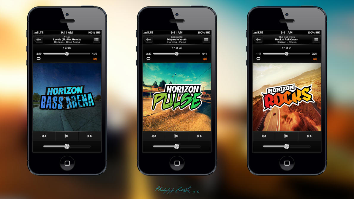 Make Your Own Iphone 5 Wallpaper Horizon Radio Covers Bass Arena Pulse Rocks By Pkworks