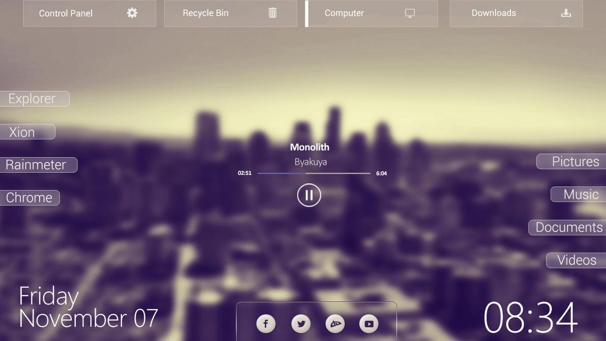 4k Fall Mountain Wallpaper Stepris V1 3 Widget For Rainmeter Windows10 Themes I