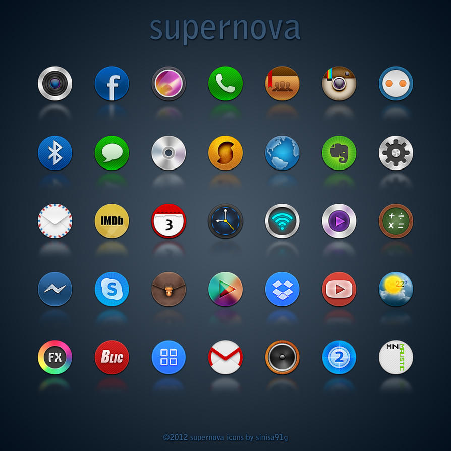 Neon Wallpaper 3d Supernova Icons By Sinisa91g On Deviantart