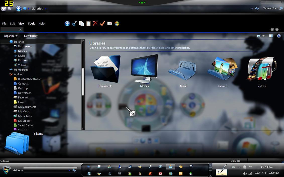 3d Desktop Wallpaper For Windows 7 Animated Explorerframe V 1 By Andreascy On Deviantart