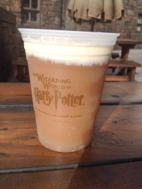 Frozen butter beer is yummy.