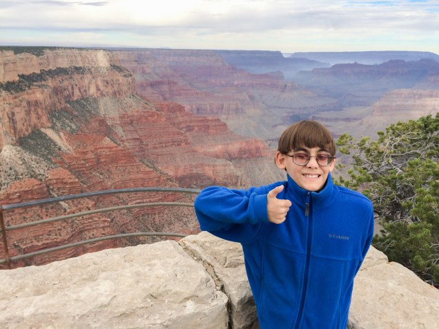 Ben gives the Grand Canyon a thumbs up!