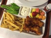 Fish & chips tv dinner