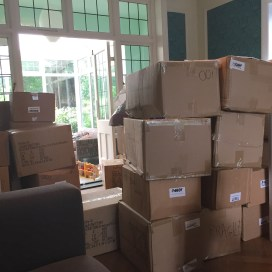 Our household goods arrived. So.much.unpacking.